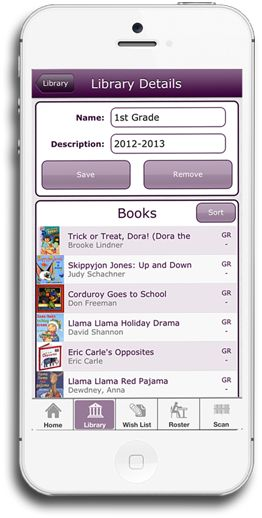 Level It Books- App to scan book's ISBN & view the Guided Reading, Grade level, DRA, and Lexile levels for the book.