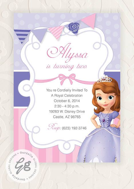 Sofia The First Invitation, Sofia The First Invite, Sofia The First Birthday, Sofia The First Birthday Party, Sofia The First Party, Invitation, Invite, Thank you Card, Cupcake Toppers, Water Bottle Wraps, Centerpieces, Decoration, Birthday Banner, Labels, Favor Tags, Candy Wraps and so much more; Sofia The First, Disney Princess, Sofia, Pink, Purple, DIY #HEPTEAM