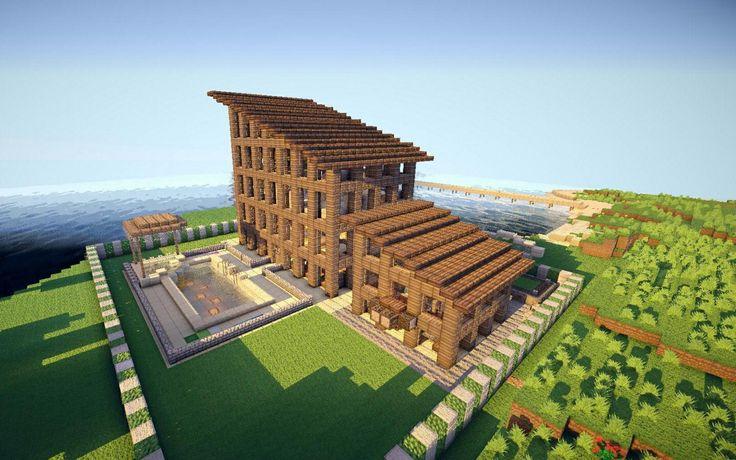 Slopped Roof Minecraft <3 Pinterest Build Stuff