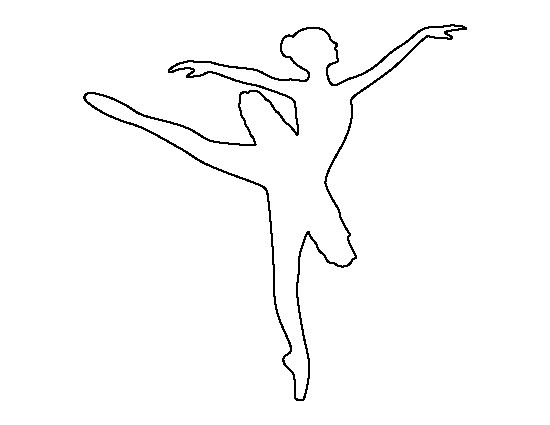 Ballerina pattern. Use the printable outline for crafts ...