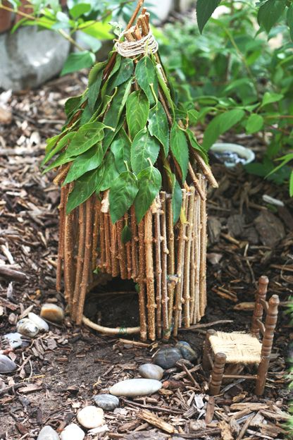 """fairy house, could also make a good """"Indian house"""" in an Indian village project."""