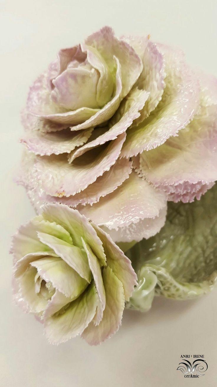 Porcelain lettuce, porcelain cabbage, ceramic flowers, ceramic floral