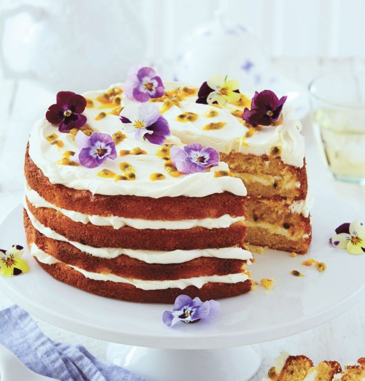 Elderflower, Orange and Passion Fruit Layer Cake