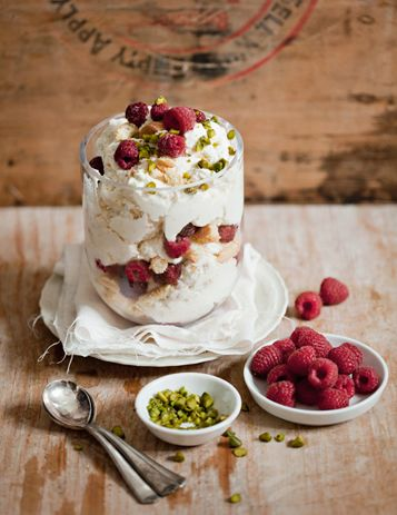 Semifreddo with raspberries & savoyardi