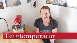 Warum die richtige Teig - Temperatur wichtig ist. Teigtemperatur  Richtwerte:  Weizenmischteige: 25 - 26°C, Roggenmischteige 27 - 28°C, Roggenteige 29-30°C, Brötchenteig 25°C, Brezelteig 20°C, Schrotbrot 28-30,