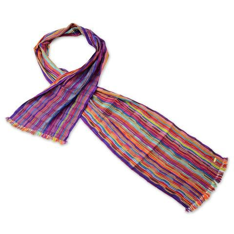 Carnivale. Our best-selling, ever popular pleated silk scarf. Timeless elegance that goes with e ...