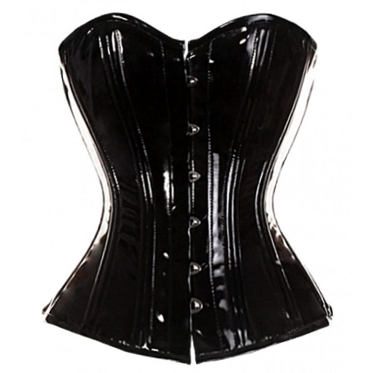 MY-156 - Brand New Simple PVC Overbust Corset