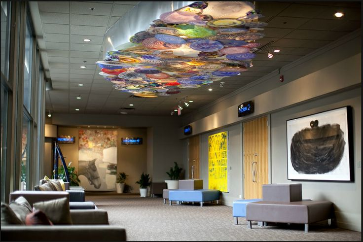 Hotel Arts Calgary - Notice the exquisite ceiling piece the hotel has used in the foyer leading to their banquet hall.