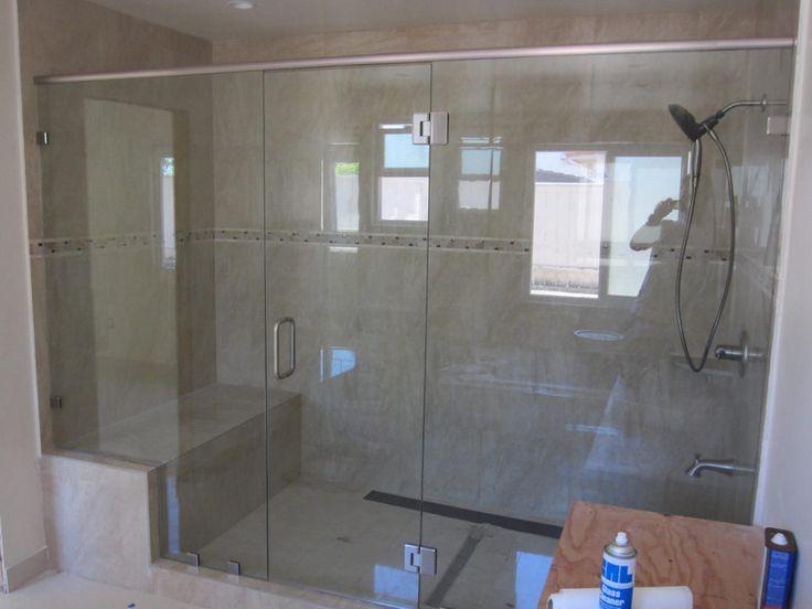 fiberglass shower stall with glass door enclosures stalls doors installation instructions