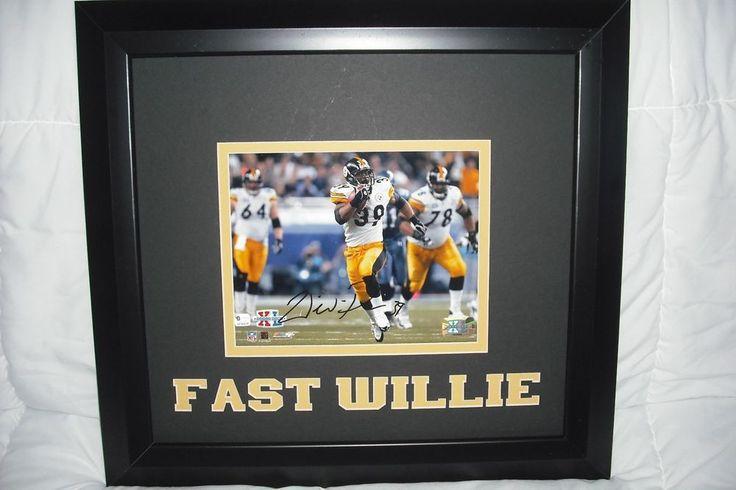 Willie Parker Autographed Framed Photo Super Bowl XL