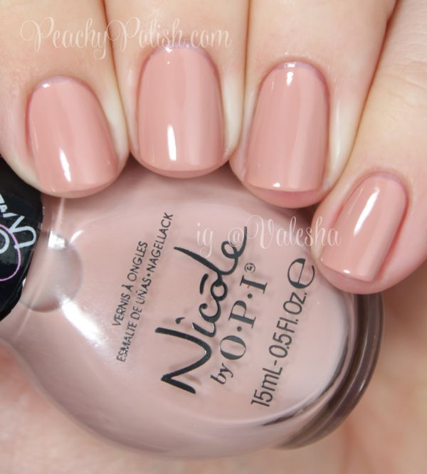 """""""Southern Charm"""" is a nude polish that leans more toward the brown side of nude.3 coats.  Nicole by OPI: Carrie Underwood Collection Swatches and Review"""