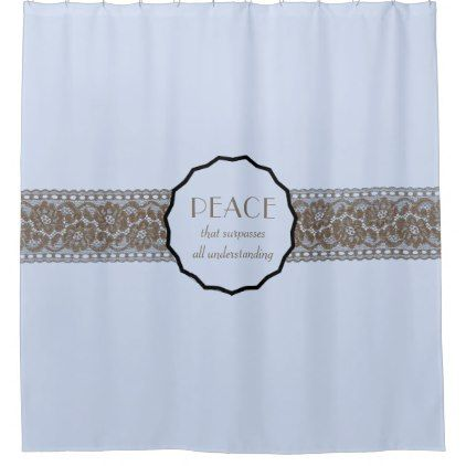 Christian Peace Faux Lace Shower Curtain - lace gifts style diy unique special ideas