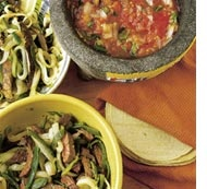 Pretty simple steak tacos by Rick Bayliss. For most recipes it can be a hassle getting the ingredients but pablano chilli is the only obscure ingredient. try it!