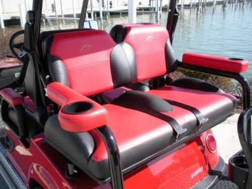 Universal Golf Cart Rear Seat Arm Rests w Cup Holders | eBay