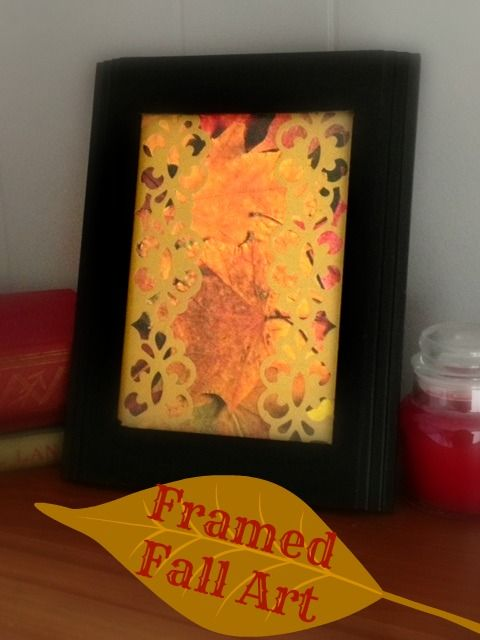 Framed Fall Art: Dollar Store Decor