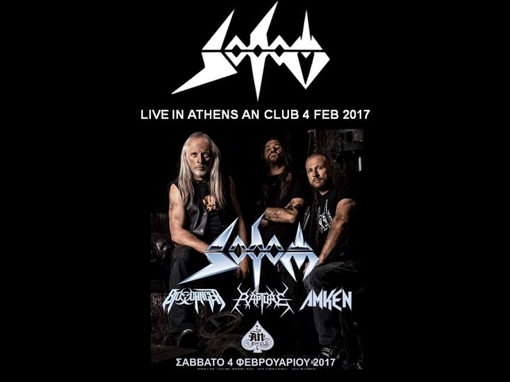 SODOM LIVE IN ATHENS AN CLUB 4 FEB 2017
