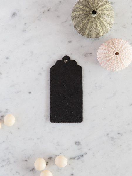 5 wooden chalkboard swing tags