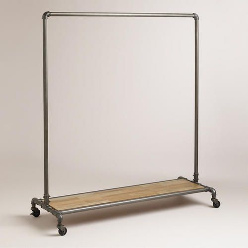 A clever solution for loft apartments, garages and rooms with no closet space, our industrial-inspired Clea Pipe Clothes Rack doubles as a moveable coat rack. It's a handy piece to roll out when you have company thanks to wheels with locking casters.