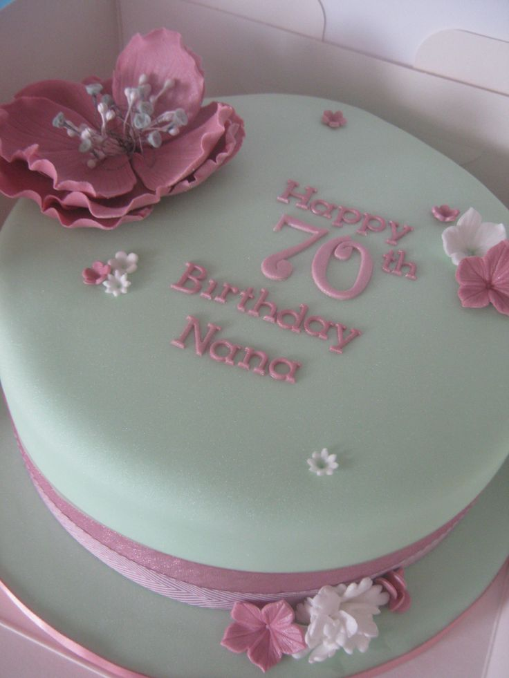 Th Birthday Cake Th Birthday Pinterest Th Birthday - Birthday cakes 70th ladies