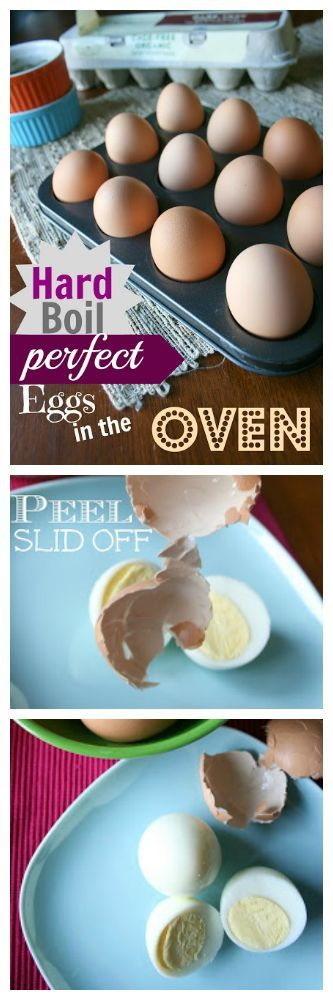 How to Make PERFECT Hard Boiled Eggs in the Oven. This is a game changer people!