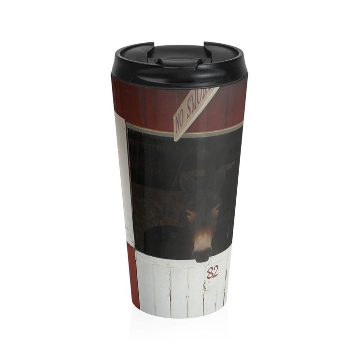 Insulated stainless steel mug with removable lid will keep your drinks hot or cold for hours.
