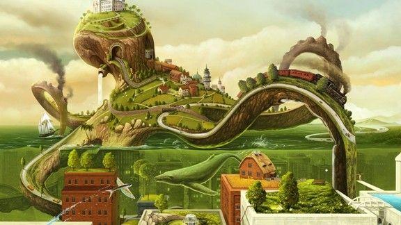 Yeşil Şehir #wallpaper #city #sehir