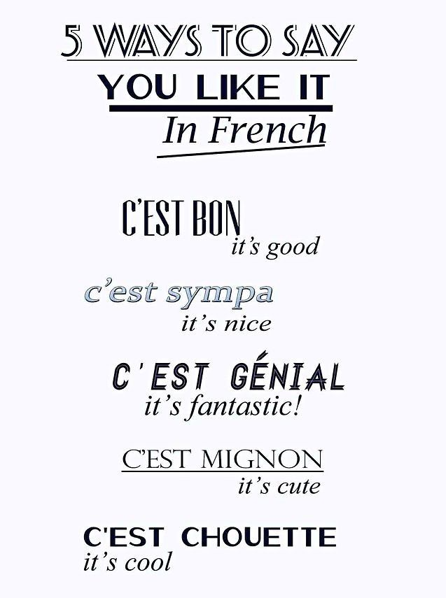 I like it french