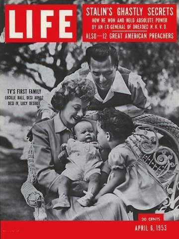 """Lucy. Desi and Kids ~ Life Magazine ~ April 6, 1953 issue ~ Click image to purchase. Enter """"pinterest"""" at checkout for a 12% discount."""