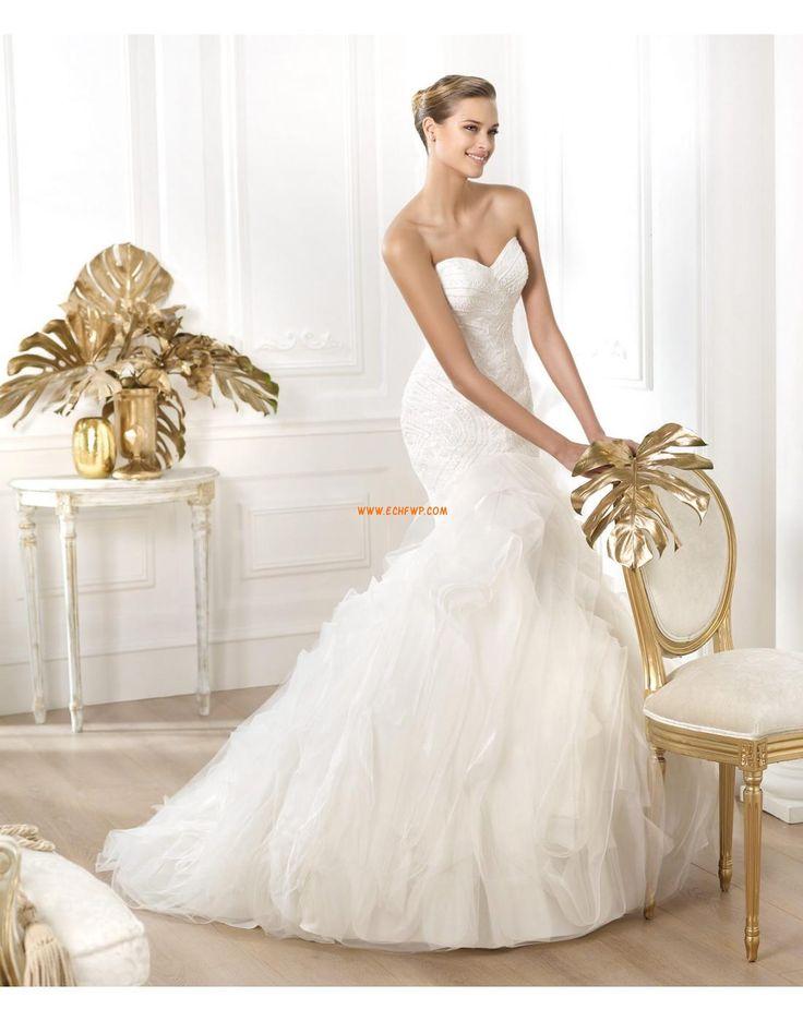 Kostel Styl trumpeta / Mořská panna Délka dvorní Svatební šaty 2014