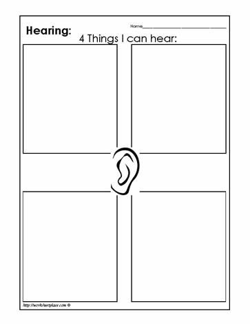 hearing worksheets cool preschool work sheets for children. Black Bedroom Furniture Sets. Home Design Ideas