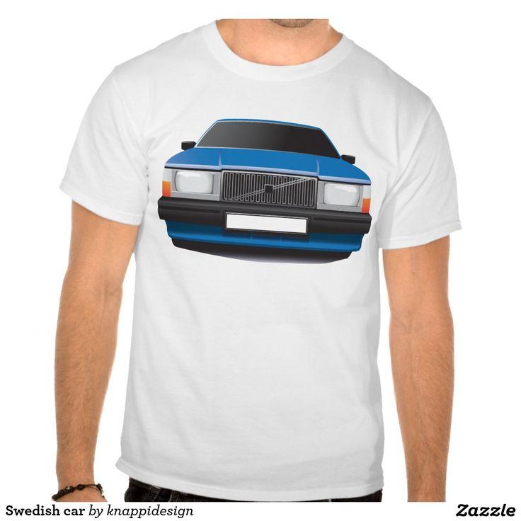 Swedish car t-shirt #auto #car #tshirt #volvo #740 #volvo740 #blue #sweden #swedish #skjorta #troja #bil #80s