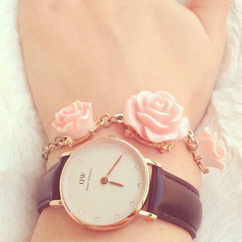 ♥ #watch #rose #pink #fresh
