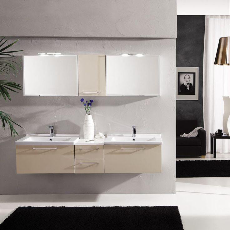 Doppel-Waschtischunterschrank / hängend / Holz / aus Keramik - GENIUS: G228 - LEGNOBAGNO
