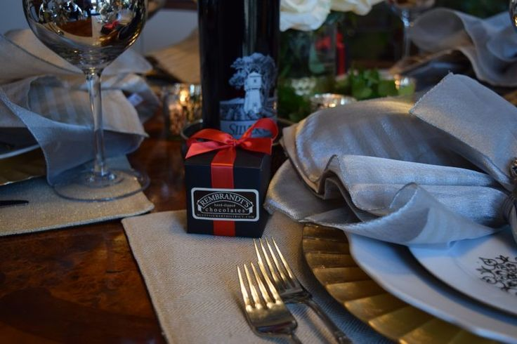 Christmas Eve dinner.  The Bluffs Rembrandt's chocolates as little treats.