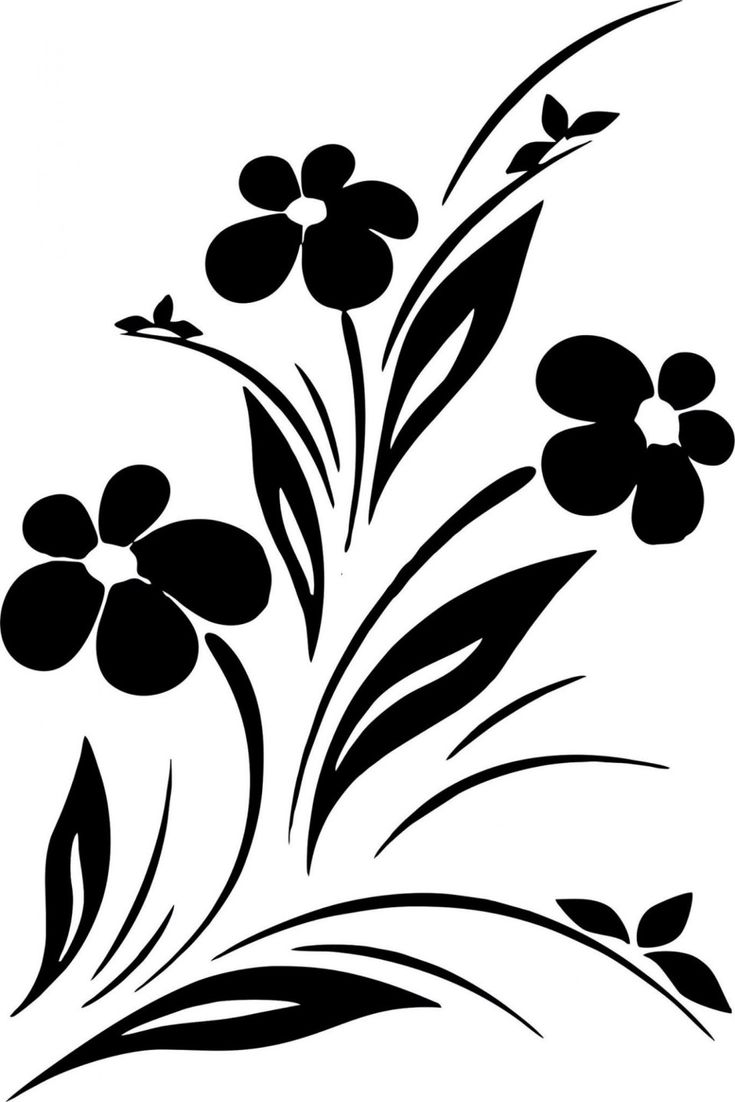 10 ways simple paintings of flowers black and white can