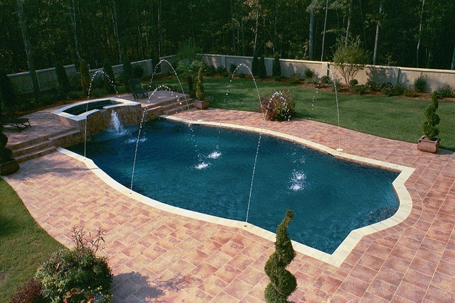 Sharp pool shape very nice awesome inground pool for Nice inground pools
