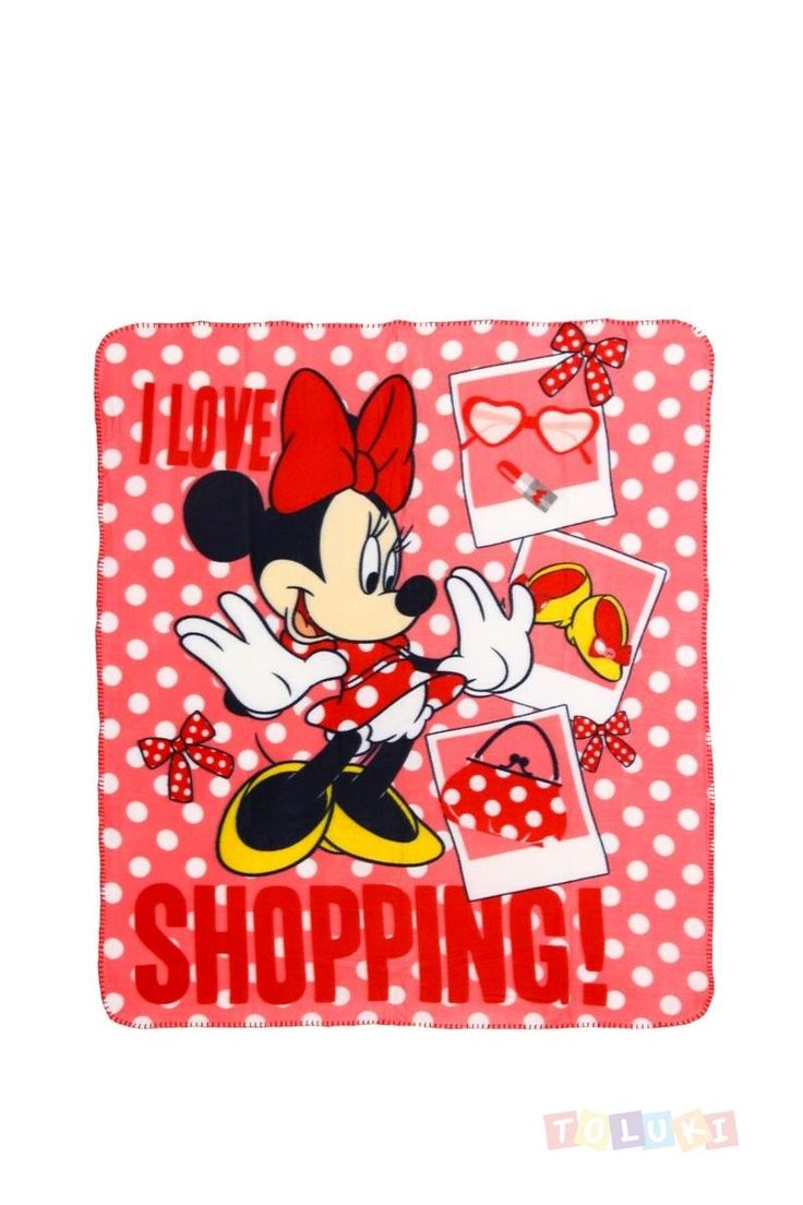 Plaid Minnie I Love Shopping | Toluki /// Nous retrouver sur : https://www.facebook.com/Toluki