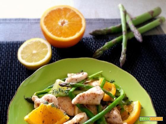 Cartoccio di pollo con asparagi e miele  #ricette #food #recipes