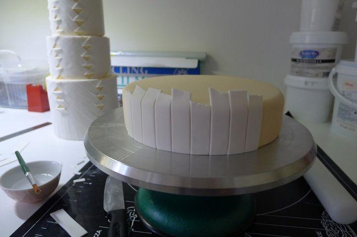 Pleat cake for Tatler Weddings | Crummb: beautiful, contemporary, handmade
