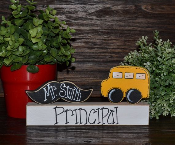 Personalized Principal Name Plate Gift by BlocksOfLove1 on Etsy, $13.99