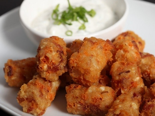 ... the basic Tot recipe. Serve with sour cream and chives (or scallions