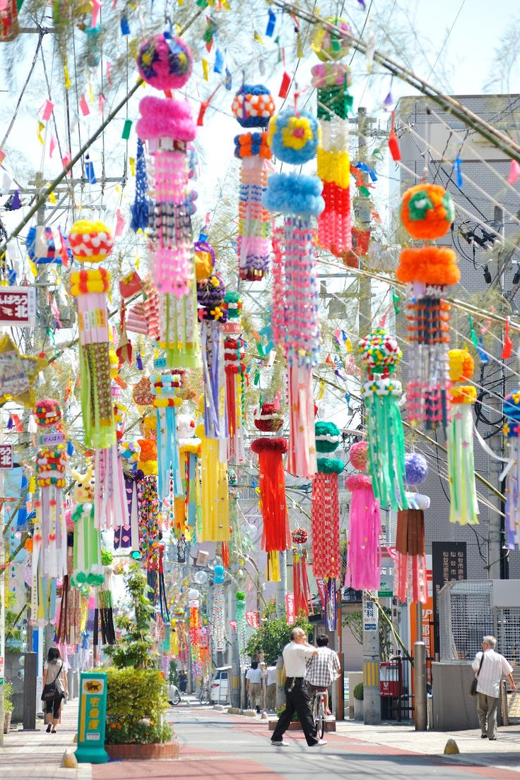 When I walk through streets in Japan on July 7. Tanabata festival.