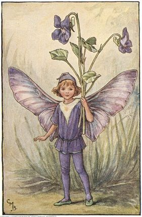 The Dog-Violet Fairy {Cicely Mary Barker}