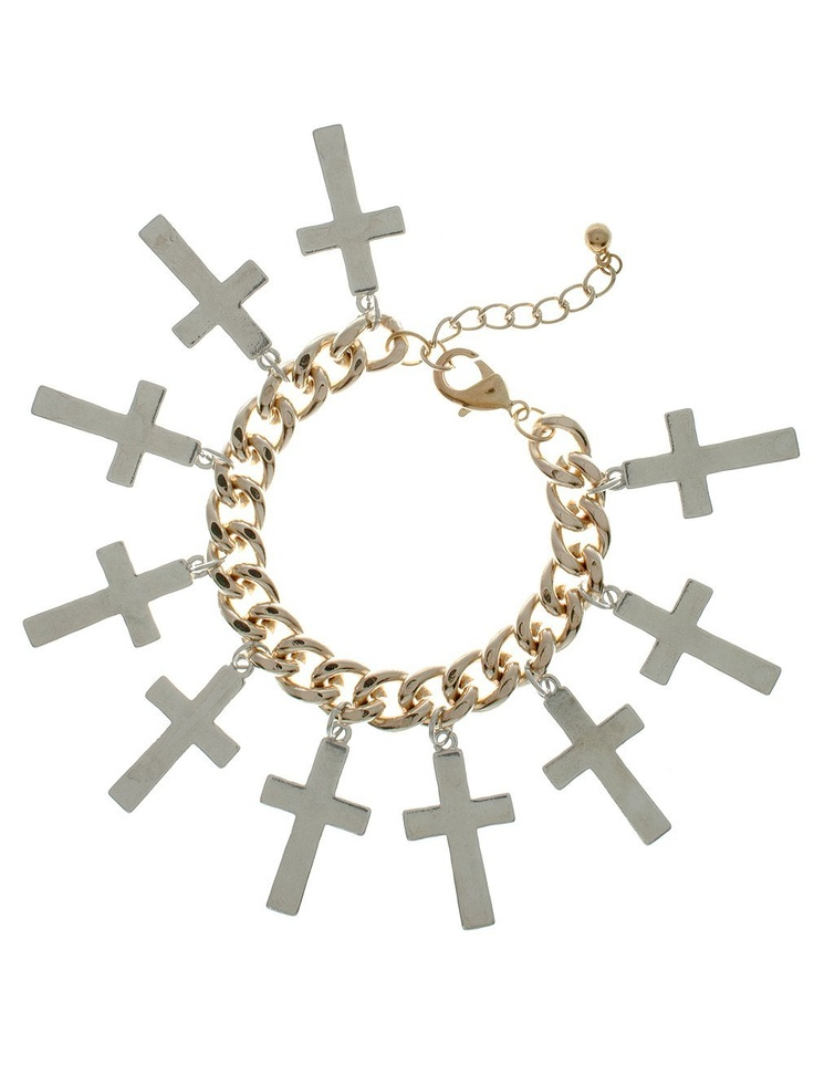 Rock 'N Rose Pixie Lott MEGAN Overload Cross Bracelet