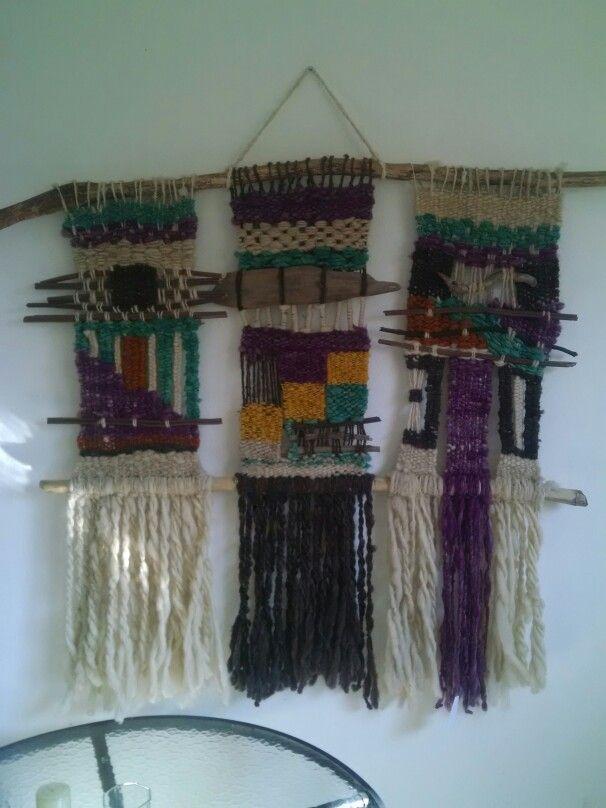 Telar mapuche de tres cuerpos