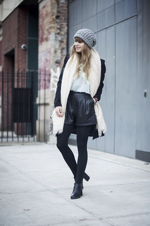 leather shorts for winter.