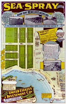 Poster Estate Map - Sea-Spray Estate, Redcliffe | State Library of Queensland Shop