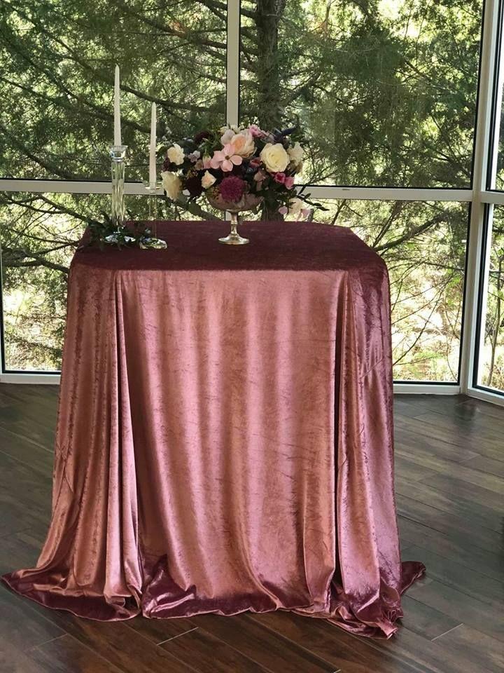 Mauve Velvet Linens Wedding Linen Rental Wedding Table Linens Linen Rentals