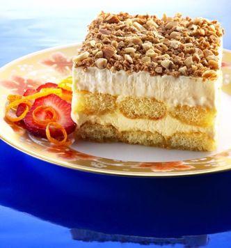 Toasted Almond Cream Cake Tray