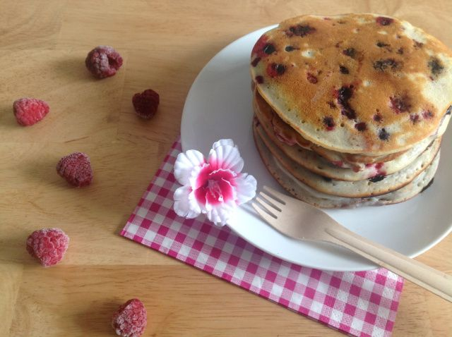 "Pancakes aux fruits rouges de ""Cupcakes"""